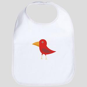 Red cute bird Bib