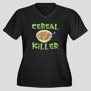 Cereal Killer Women's Plus Size V-Neck Dark T-Shir