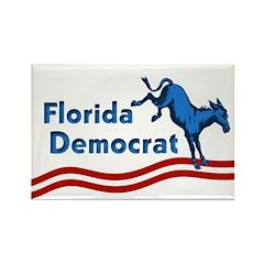 Rectangular Florida Democrat Magnet