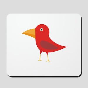 Red cute bird Mousepad