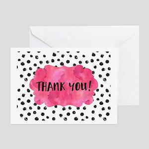 Polka Dot Thank You Greeting Cards