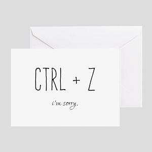 Apology greeting cards cafepress im sorry ctrl z undo greeting cards m4hsunfo