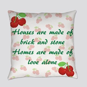 Vintage Cherries Homes Love Alone Everyday Pillow