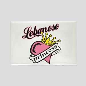 Lebanese Princess Rectangle Magnet
