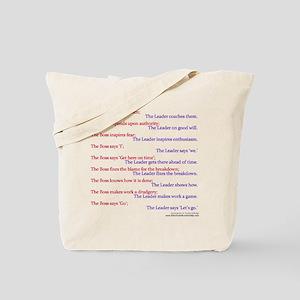Boss vs Leader Tote Bag