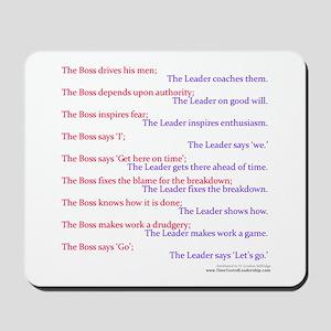 Boss vs Leader Mousepad