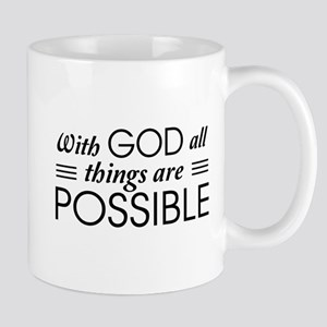 With God All Things Are Possible Mugs