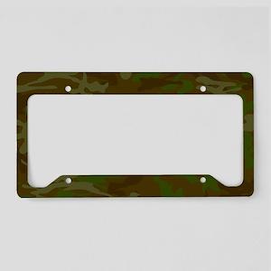 Green Camo Pattern License Plate Holder