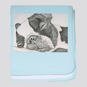 boston graphite baby blanket