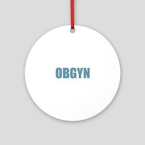 OBGYN - Blue Round Ornament