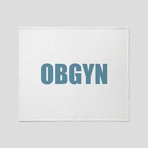OBGYN - Blue Throw Blanket
