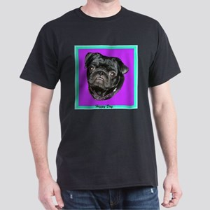 Happy Day Smiling Black Pug T-Shirt