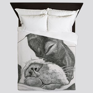 boston graphite Queen Duvet