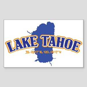 Lake Tahoe with map coordinates Sticker