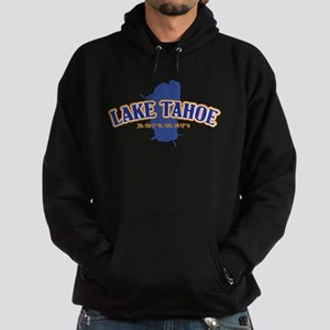 Lake Tahoe with map coordinates Hoodie (dark)