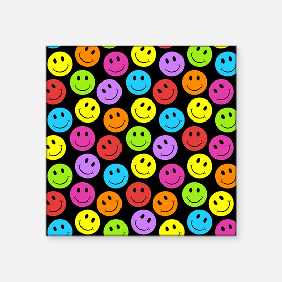 Happy Colorful Smiley Faces Pattern Sticker