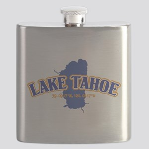 Lake Tahoe with map coordinates Flask
