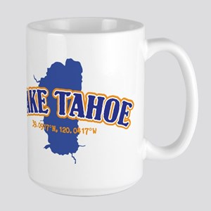 Lake Tahoe with map coordinates Mugs