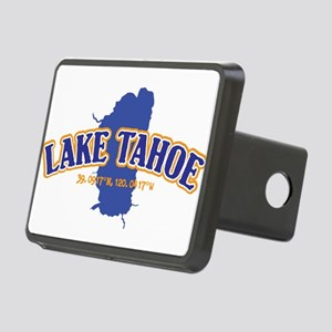 Lake Tahoe with map coordi Rectangular Hitch Cover