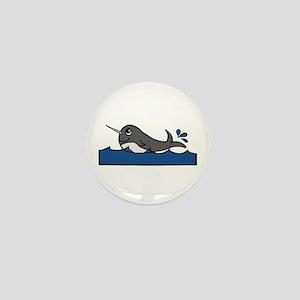 Narwhal Splash Mini Button