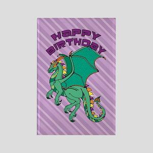 Green Dragon Birthday Rectangle Magnet