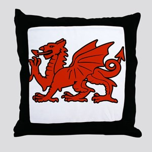 cymru wales welsh cardiff dragon Throw Pillow
