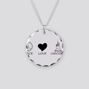 peace love Necklace Circle Charm