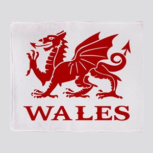 cymru wales welsh cardiff dragon Throw Blanket