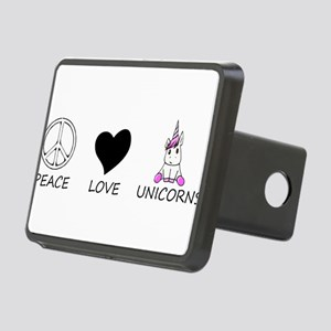 peace love Rectangular Hitch Cover