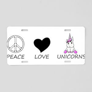 peace love Aluminum License Plate