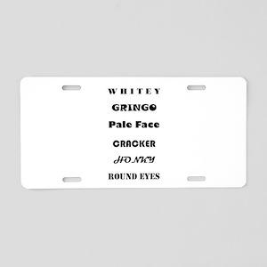 Slang For White Aluminum License Plate
