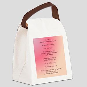 I am Sissy Cumdump Canvas Lunch Bag