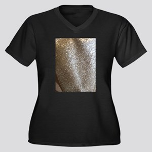 glittery lame metallic Plus Size T-Shirt