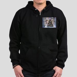 Vintage Christmas Zip Hoodie (dark)
