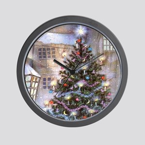 Vintage Christmas Wall Clock