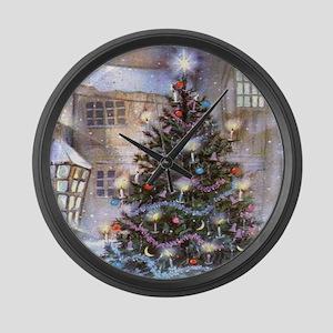 Vintage Christmas Large Wall Clock