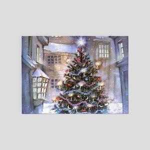 Vintage Christmas 5'x7'Area Rug