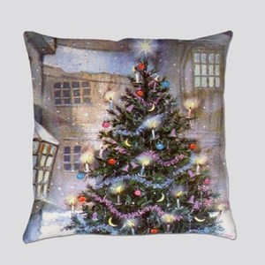 Vintage Christmas Everyday Pillow