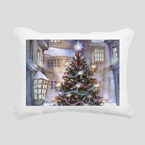 Vintage Christmas Rectangular Canvas Pillow