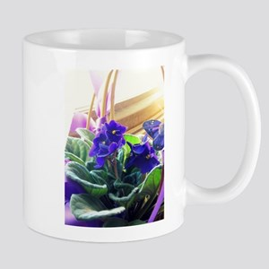 Purple Violet Basket Mugs