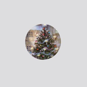 Vintage Christmas Mini Button
