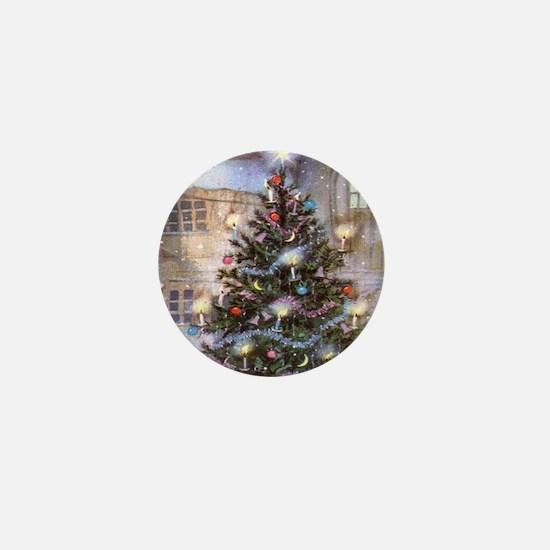 Vintage Christmas Mini Button
