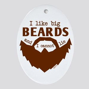 I Like Big Beards Oval Ornament