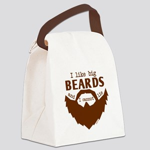 I Like Big Beards Canvas Lunch Bag