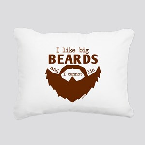 I Like Big Beards Rectangular Canvas Pillow