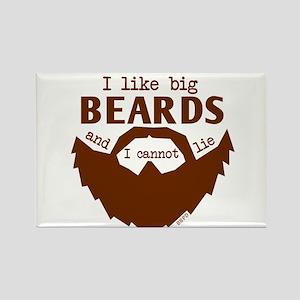 I Like Big Beards Magnets