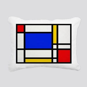 Mondrian-2b Rectangular Canvas Pillow