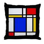 Mondrian-2b Throw Pillow