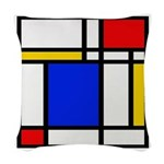 Mondrian-2b Woven Throw Pillow