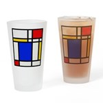 Mondrian-2b Drinking Glass